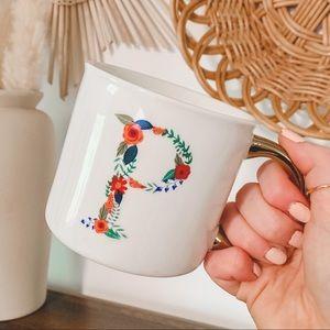 Opalhouse Monogram 'P' Floral Oversized Coffee Mug